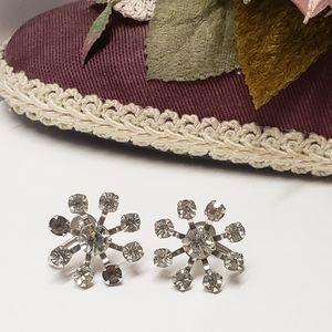 Vintage B.N Crystal Earrings